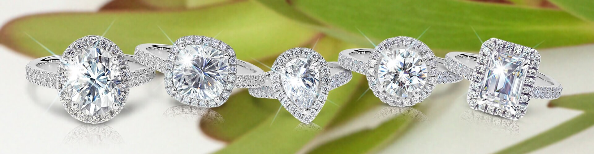 5 classic lab grown engagement rings