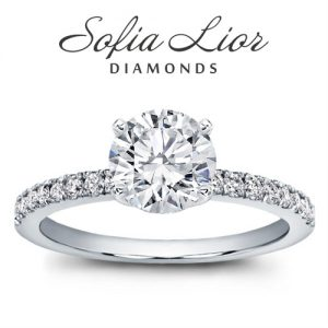Pave engagement rings in Sofia Lior