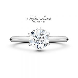 Solitare engagement ring Sofia Lior