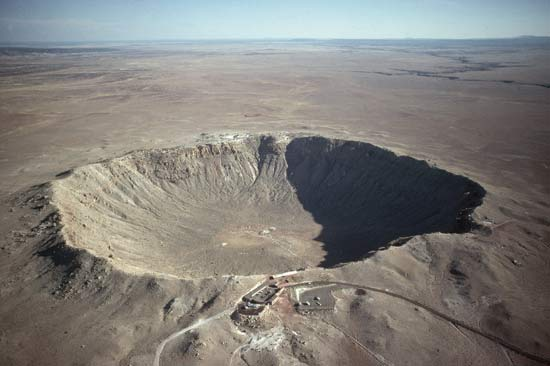 Meteor crater. Find moissante