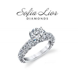 side stone engagement ring in Sofia_Lior