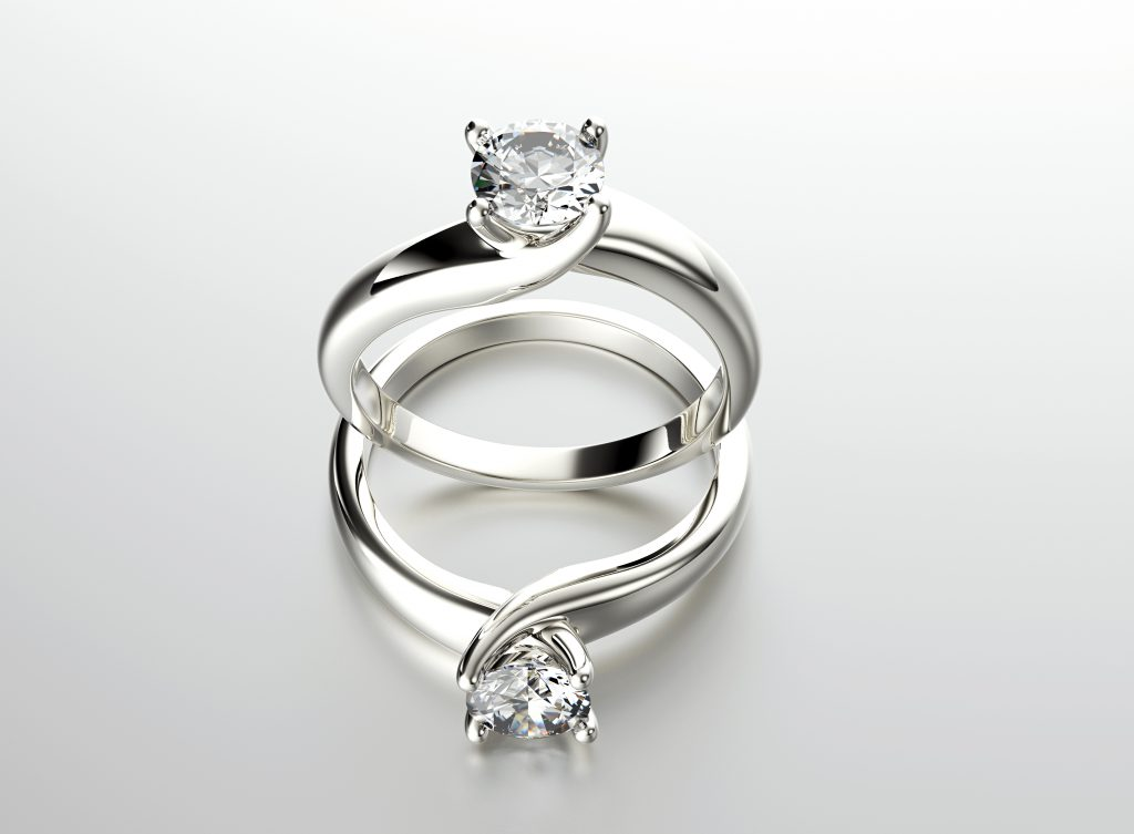 Unique engagement rings with lab grown diamonds